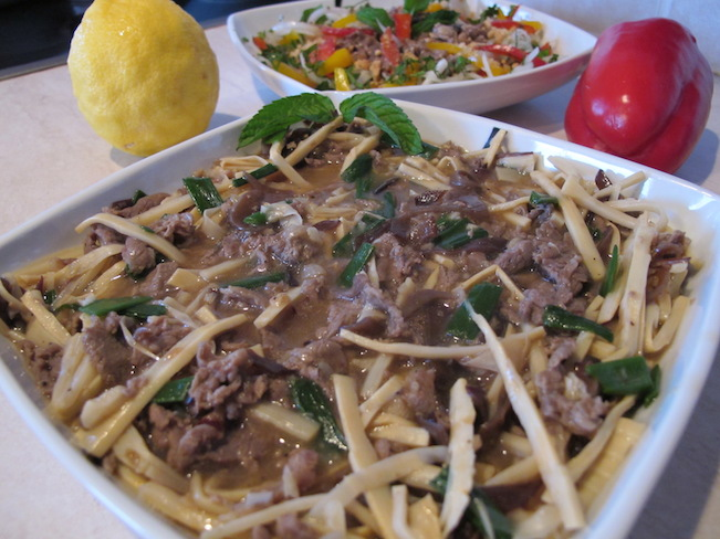 beef and bamboo shoot